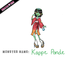 Monster High Contest: Kappe Ponde by chibi-rice-ball-chan