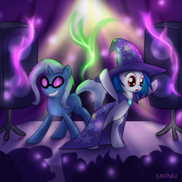 DJ Pon3 and Trixie Costume Switch by Empyu