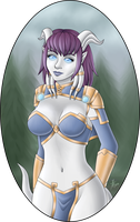 Lovely Draenei Ladies: Monara by kinari