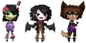 Adoptable Batch: Horror~ Collab CLOSED by LushiAdopts