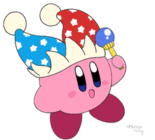 Mirror Kirby - colored by water-kirby