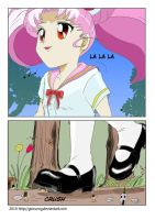 giantess chibi in forest by giorunog