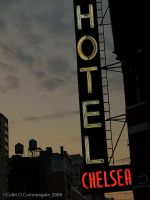 chelsea hotel balcony view by frictionfire