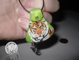 Tiger Pendant Necklace by latent-ookami