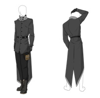 Custom Outfit Adopt - Grey Longcoat by ShadowInkAdopts
