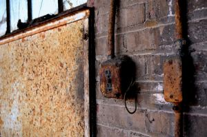 Rusted Outlet by coffeenoir