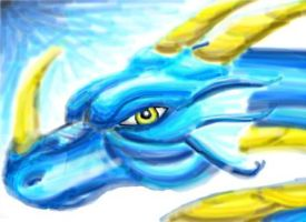 Blue Dragon by 999clouds