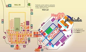 Japan Expo MOELUV and PHOBIALIA booth placement by phobialia