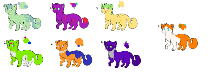 Cat Adoptables o3o by CrystalTheDeatheater
