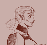 OoT Impa Sketch by Tanooki128