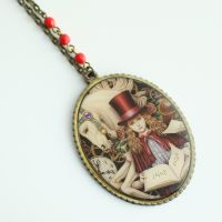 'Aki' Alice in Wonderland Necklace FOR SALE by MonsterBrandCrafts