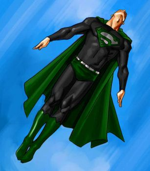 Green and Black Superman by htcOliver