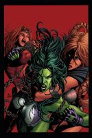 She-Hulk 36 by MikeDeodatoJr