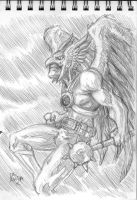 sketch a day 04 HAWKMAN by chachaman