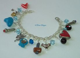 A Link To The Past Charm Bracelet Zelda CustomOOAK by TorresDesigns