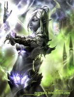 Majiya, Drow Witch by scarypet