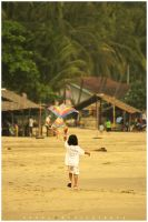 little girl and her kite by sevenheaven