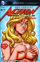 Supergirl Naughty Bust sketch cover by gb2k