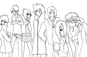 Group Pic Lineart by Ba-loo
