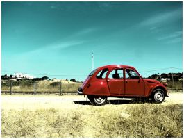 Red car by goudlokje