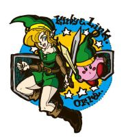 Link and kirby by matsuneo