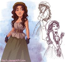 Eponine - Les Mis Fan Art by The-Ez