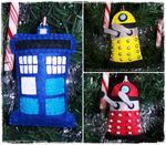 Doctor Who Christmas Ornaments by ChloeRockChick14