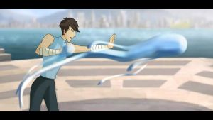 Makorra's Son: HAROU Water Bending by johngreeko