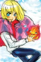 Howl and Calcifer by Tsubasa-No-Kami