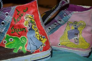 tangled shoes (finished) by shesflatlining
