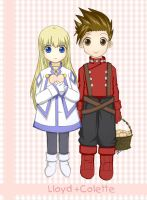 Lloyd x Colette and Cookies by ChibiRed