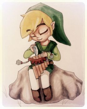 Toon Link by thefireoflife