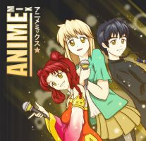 Animemix: CD Front Cover by Dragon2524