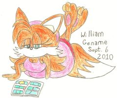 Tammy Reading a Comic Book by germanname