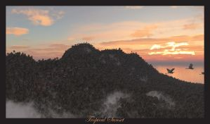 Tropical Sunet by jbjdesigns
