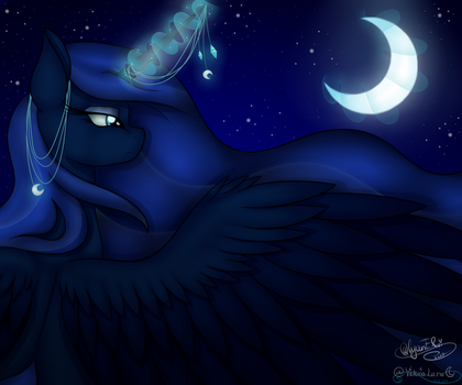 |COLLAB|Princess of the Night by Victoria-Luna