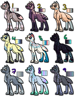 Lovely Palette Dogs X9 [[CLOSED, ALL TAKEN!!!!!!]] by bellluce