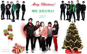 BigBang Merry Christmas Wall 2011 by Hentaro