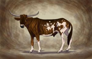 Stars and Stripes Longhorn by Falcolf