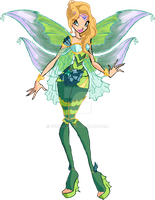 Elena Bloomix (Concept Artwork) by Cyberwinx