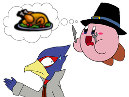 Kirby's Thanksgiving by Rotommowtom