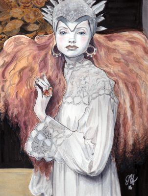 Lily Cole - Ghostly Splendor by juliaharrison