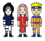 Naruto Minis - Team 7 by innocent--angel
