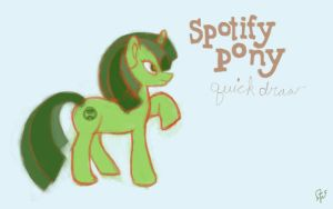 Spotify My Little Pony by Lunitaire