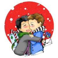glee: Klaine Christmas by bakahouken