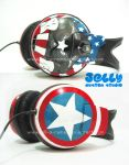 Captain America headphone by PoppinCustomArt