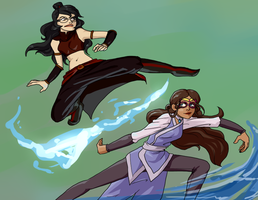 Bender Battle:  Feferi VS Vriska by Kamden