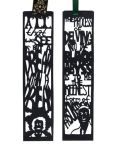 Halloween Papercut Bookmarks: Poe and Lovecraft by freaky-dragonlady