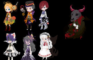 Halloween FREE Dream Selfy adopts (OPEN) by Bubbles-Layne