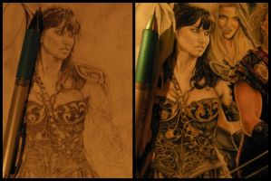 Xena: Warrior Princess - Process by Catalina-Estefan